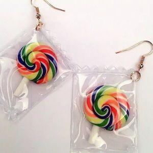 Rainbow 🌈 Lollipop Earrings
